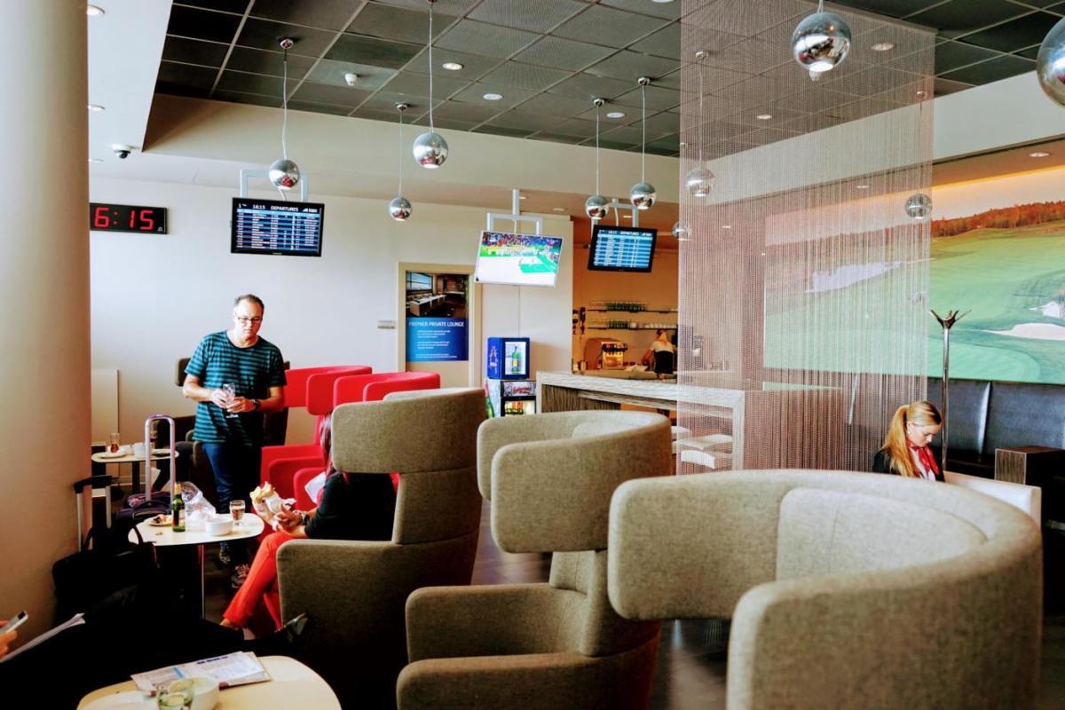 チェコ・プラハ国際空港のラウンジ