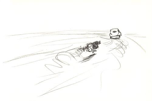 【アンジュール】黒鉛筆1本で描かれた文字のない絵本