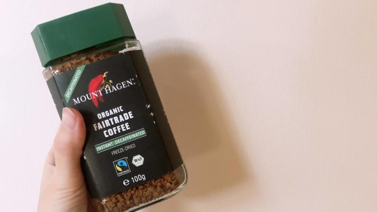 ノンカフェインのインスタントコーヒーはこれ一択。3倍の値段でも買いたい。